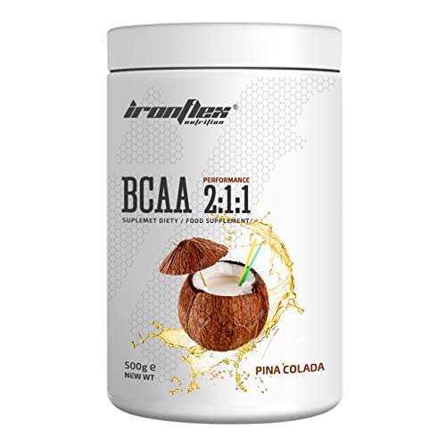 IronFlex BCAA 2-1-1-1 Pack - Branched Chain Amino Acids in Powder - Muscle Regeneration - Anticatabolic (Pina Colada, 500g)