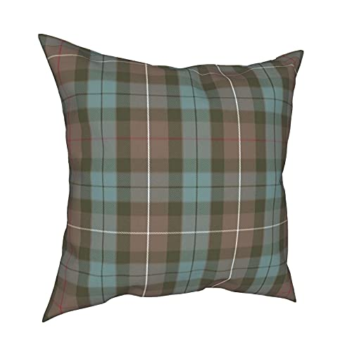 Fraser - Funda de almohada cuadrada de algodón de 45,7 x 45,7 cm, diseño de tartán