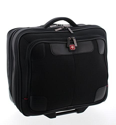 Swissbrand carro de negocios, carro para el ordenador portátil, maleta (negro)