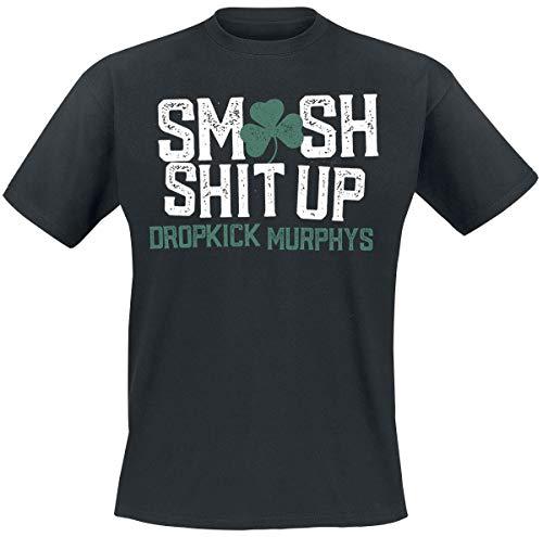 Dropkick Murphys Smash It Up Uomo T-Shirt Nero L 100% Cotone Regular