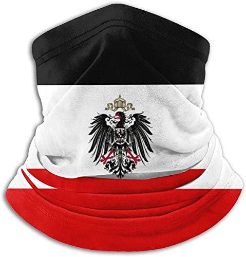 BaoBei-shop Deutsches Reich Flagge Gesichtsmaske Bandanas-Windproof Shield Schal Halswärmer Sturmhaube für Staub, Outdoor, Festivals, Sport Schwarz