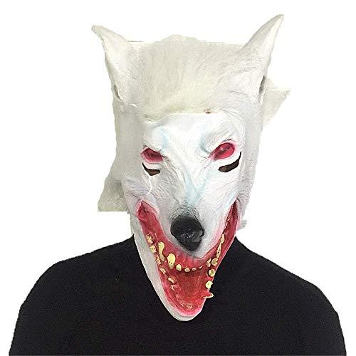 MonthYue Máscara De Terror De Halloween Traje De Diablo De Látex Fiesta...