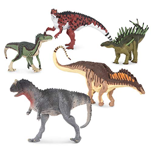 Terra by Battat – 5 Dinosaur Toys, Small – Dinosaurs for Kids & Collectors, Scientifically Accurate & Designed by A Paleo-Artist; Age 3+ (5 Pc)