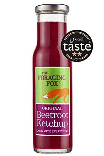 Foraging Fox Beetroot Ketchup - Original Flavor - 255g - 100% naturale, senza aromi artificiali, fatto con barbabietola di qualità