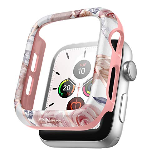SURITCH Funda Compatible con Apple Watch 38mm Series 3/2/1,Protector de Pantalla Compatible con Apple Watch Series 3 2 1 38mm - Rosa