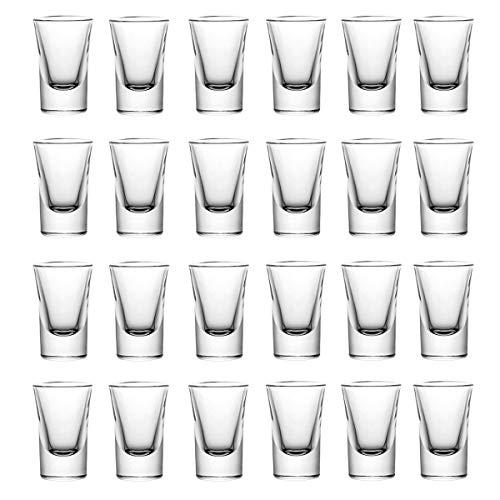 mixed24 24er Set Schnapsgläser 2cl 4cl 20ml 40ml Shotgläser Pinnchen Shots Tequila Glas Vodka Gin Schnaps Likör