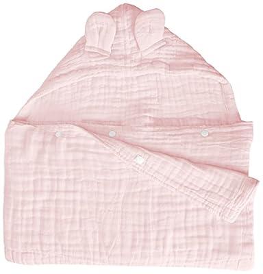 Primebabe 6 Layer Hooded Bath Towel, Kids Soft and Cozy Muslin Cotton Bathrobe