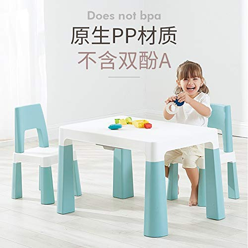 Barnrae Kids Table and Chairs Set, Pp Children Studying Activity Desk Sets for Children in Reading, Drawing, Art Playroom, Smooth Desktop is Easy to Clean.
