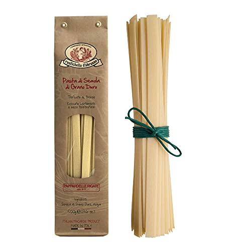 Rustichella d'Abruzzo - Pappardelle Rigate dicke italienische Bandnudeln - 500g