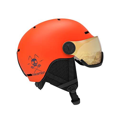 Salomon GroTalla M Visor Cascos de esquí, Unisex niños, Naranja (Flame T.Naranja Univ.), KS (49-53 cm)