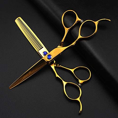 WYGC Scissors Tijeras Peluqueria Profesional,Tijeras de peluquería Profesionales para Zurdos Tijeras para el Cabello para Mano Izquierda -6.0 Pulgadas Acero Inoxidable