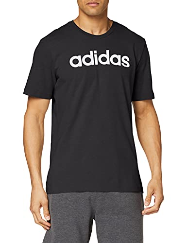 adidas Essentials Linear T-Shirt T-Shirts, Uomo, Black/White, 2XL