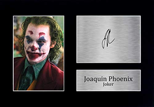 HWC Trading Joaquin Pheonix Geschenke, gedrucktes Autogramm, für Fans von Filmen, Joaquin Pheonix (A4 Unframed), A4