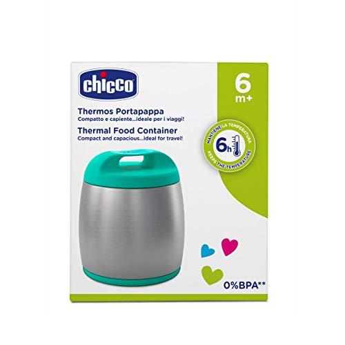 Chicco Thermos Portapappa, Inox, Bimbo, Verde Tiffany - 430 g