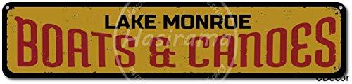 Lorenzo Boats & Canoes Vintage Metal Vintage Metallblechschild Wand Eisen Malerei Plaque Poster Warnschild Cafe Bar Pub Bier Club Dekoration