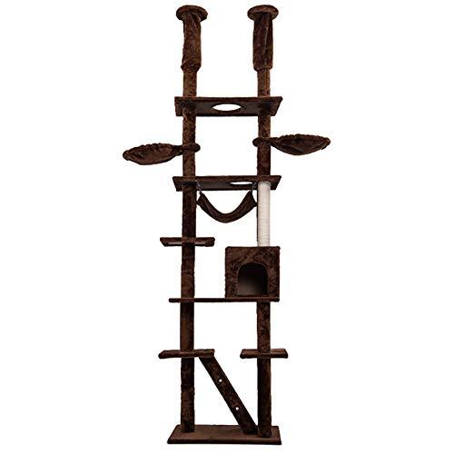[オーエスジェー]OSJキャットタワー突っ張り 最高255cmキャットタワー爪研ぎ つっぱり猫タワーハンモク 階...