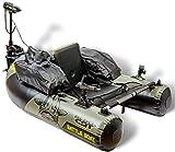 Black Cat Battle Boat Set - Bellyboot + Elektromotor zum aktiven Welsangeln, Angelboot zum Wallerangeln, Wallerboot mit E-Motor zum Aktivangeln