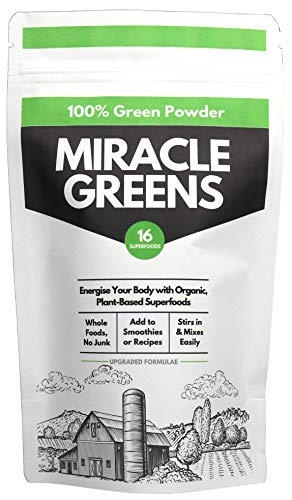 Organische Super Greens Poeder (150g) | Bijgewerkte Formulae - Een mix van 16 Superfoods van fruit en groenten | Onderzocht en getest | UK Made Super Greens for Nutrition, to Boost Energy and Detox