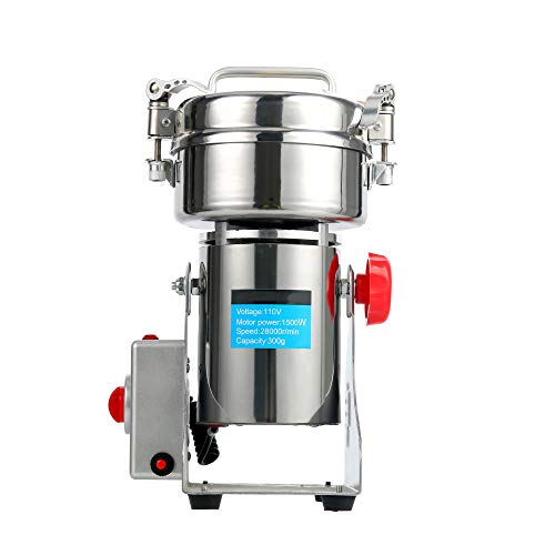 YaeTek 110V 300g Stainless Steel Electric High-speed Grain Grinder Mill Family Medicial Powder machine commercial Cereals grain Mill Herb Grinder