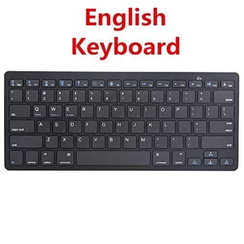 XINGLAISHOP Ultra-Thin Wireless Keyboard Bluetooth 3.0 Keyboard Teclado for Apple for iPad Series iOS System (Color : Black)