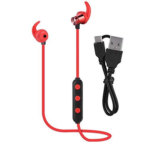 YIFengFurun - Cuffie Bluetooth senza fili, con cancellazione del rumore, per sport, fitness, viaggi, colore: rosso