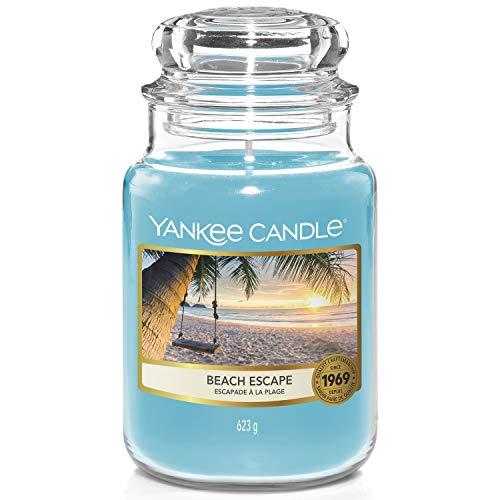 Yankee Candle - Candela profumata in barattolo grande, motivo: Beach Escape