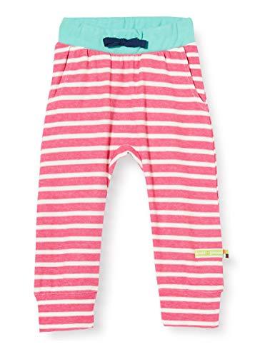 Loud + Proud Striped Pant Organic Cotton Pantalon, Rose (Azalea Aza), 74/80 Bébé Fille