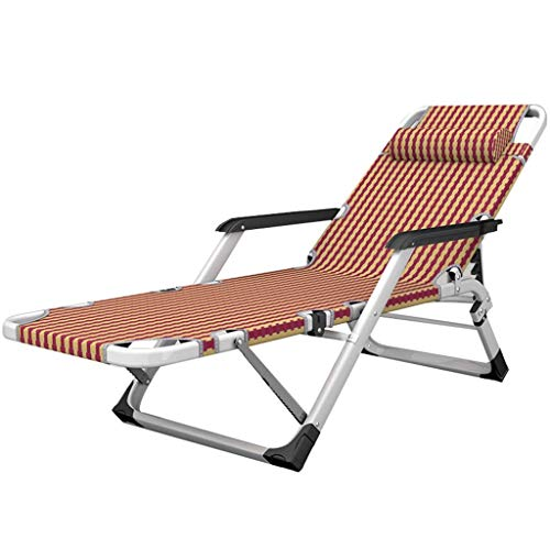 WJJJ Stuhl Relaxliege im Freien in klappbarem Gartenbett liegend Textoline Zero Gravity wetterfest verstellbar (Farbe: Stuhl)
