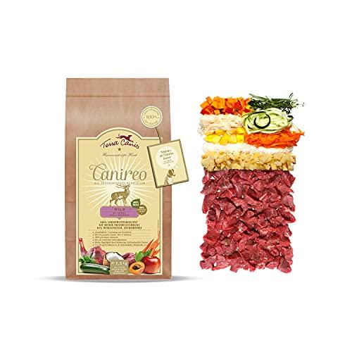 Terra Canis Wild, Gemüse, Obst & Kokosmehl - Canireo Trockenfutter, 2,5kg I Premium Hundefutter in 100% Lebensmittelqualität Aller Rohstoffe I 64% Frischfleisch, Getreide- & glutenfrei