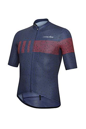 Zero RH+ Super Light, Abbigliamento Man Bike Jersey Uomo, Pixel Cobalt Blue/Red Code, XL
