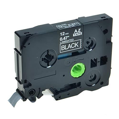KCMYTONER TZe335 TZ-335 Laminated Label Tape Compatible for Brother P-Touch PT-200 PT-D210 PTD400AD PT-H100 PTD600 PT-P700 PT-2030 Label Maker White on Black 1/2inch x 26.2ft