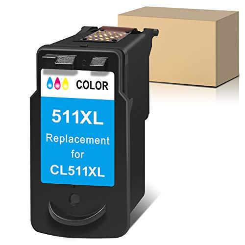 Sunnieink Cartuccia d'inchiostro 511 511XL rigenerata per Canon PG-511XL PG 511 XL compatibile per Pixma MX340 MP480 MP250 MX410 MP495 MP280 iP2702 MP490 MX330 MX320 MP499 Stampante (1 Pack)