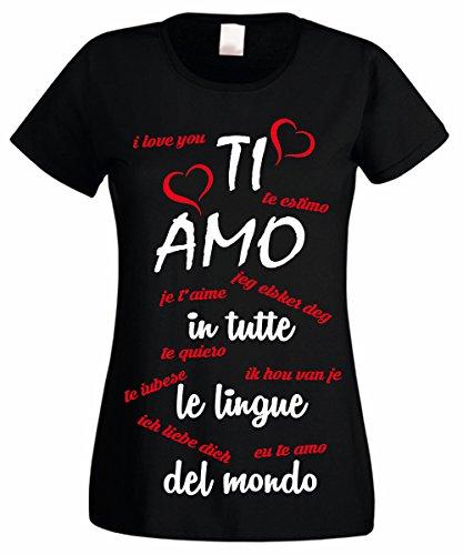 L'Arcobaleno di Luci T-Shirt Donna Ti Amo in Tutte Le...