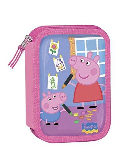 ASTUCCIO TRIPLO PEPPA PIG ROSA 24+12