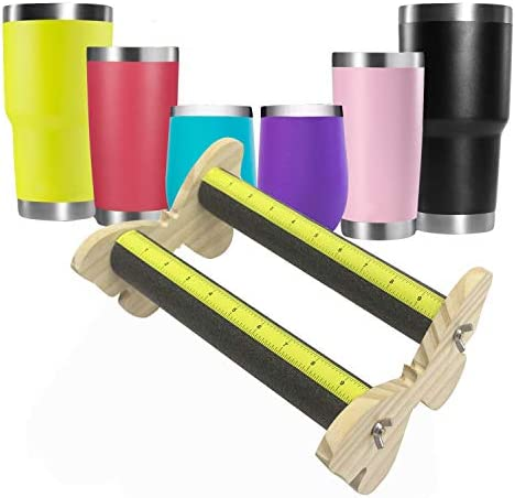 Tumbler Cup Cradle Vinyl Holder Perfect Partner to Cup Turner Foam Cup Holder with Measurements product image