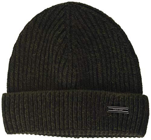 Calvin Klein Herren Beanie Hut, Dunkle Olive, OS