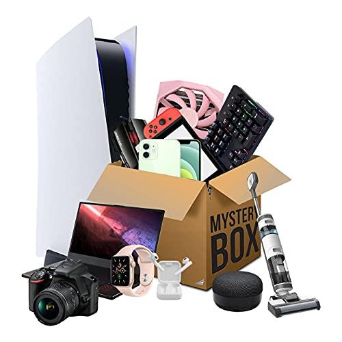 HAMKL Mystery Box Elektronische Produkte,Überraschungsbox,Mysteriöse Schachtel, Überraschungspaket,Können Geöffnet Werden:Laptop,kabellose Kopfhörer,Telefon,Überrasche Dic B