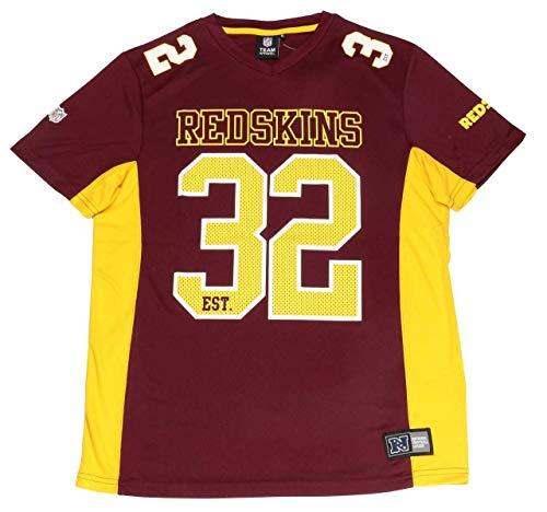 Fanatics Washington Redskins NFL Players Poly Mesh Tee/T Shirt Red - L