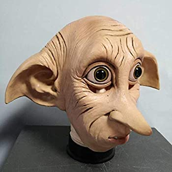 Miaoao Dobby Mask,Latex Mask,Halloween Carnival Costume Headgear Props  Color   A