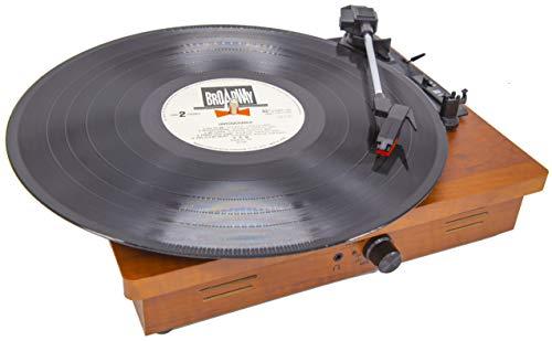 MOETATSU レコードプレーヤー ターンテーブル スピーカー内蔵 Bluetooth対応 RCA音声出力端子 33/45/78回転対応 レーコドマット付き 予備レコード針付き