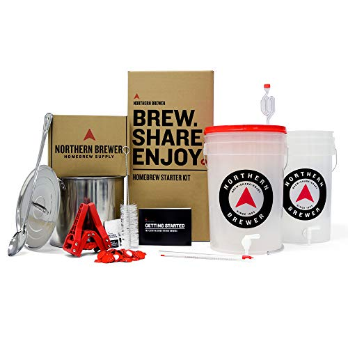Northern Brewer Brew. Share. Enjoy. HomeBrewing Starter Set With Block Party Amber Beer Brewing...
