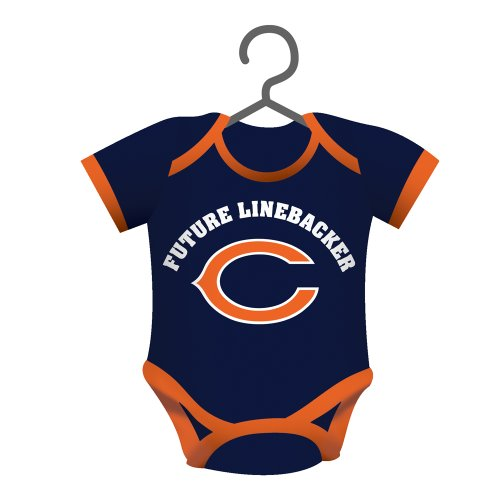 Team Sports America NFL Chicago Bears Baby Shirt Ornament, Small, Multicolor