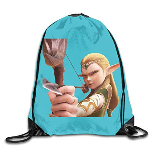 Dragon Nest Warriors Dawn DSGFSQ Sac de Sport,Sac à Cordon Drawstring Backpack Beam Mouth Sports Sackpack Shoulder Bags Men Or Women