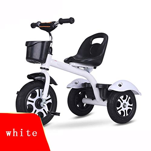 XIAOYANG Stroller Kids Bike Baby Tricycle 1-2-6 Years Old Children Car Portable Seat Lightweight and Portable Best for Gifts (Color : White)