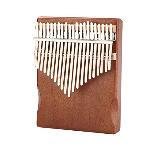 Kalimba, Daumenklavier 21 Keys Kalimba Mahagoniholz ​​Daumen Finger Piano Mbira African Sanza mit Abstimmwerkzeuge Noten Musikinstrument (Color : 21 Keys Coffee)