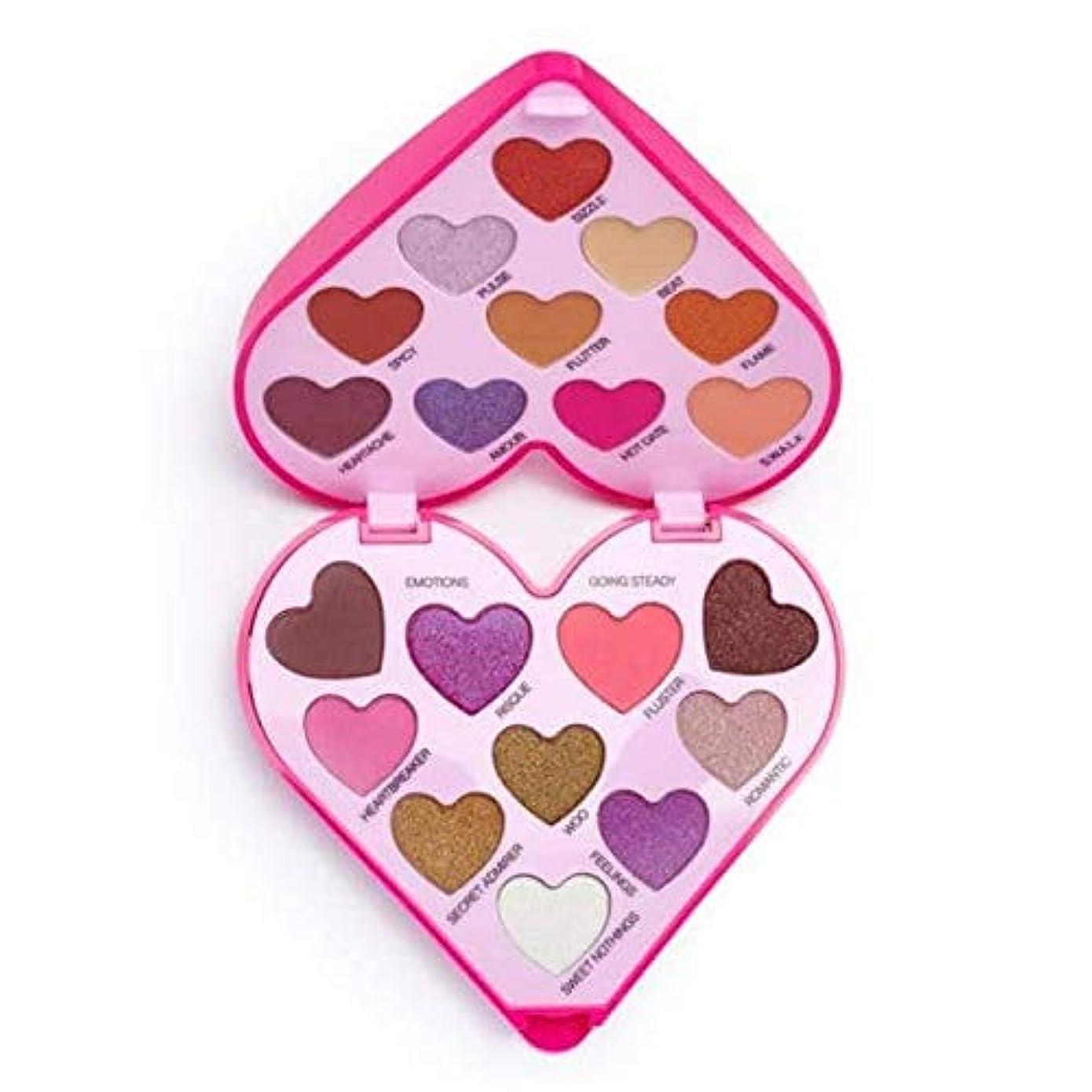 合金公平押す[I Heart Revolution ] 私は心の革命のハートビートアイシャドウパレット - I Heart Revolution Heartbeat Eye Shadow Palette [並行輸入品]