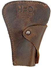 Hide & Drink Rustic Leather Razor Cover Handmade by Bourbon Brown