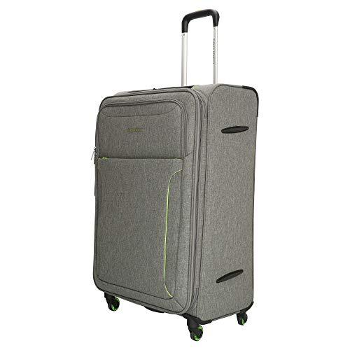ENRICO BENETTI Maleta de viaje con ruedas, 77 cm, capacidad: 108 litros, superligera, solo 3,5 kg (gris)