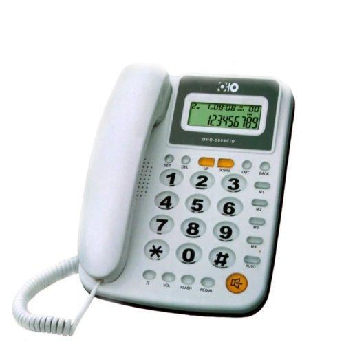 Takestop Teléfono fijo teclas grandes 5004pantalla