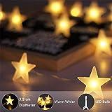 Immagine 2 lecone catene luminose 20 stelle
